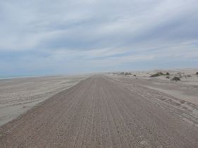 Hinter Bahia Creek, erlebten wir echtes Wüstenfeeling und die Sperrung der RP1.