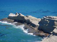 Im Naturpark Monte Leon haben die Seelöwen eine spezielle Start- und Landetechnik entwickelt, ...