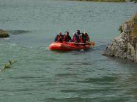 ...wo der Rio Lapataia zu einer gemütlichen Schlauchboottour einläd, ...
