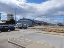 Auf dem Weg zum Flughafen von Punta Arenas...