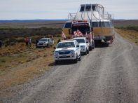 Die RP29, eine kleine Schotterpiste – 3 km früher und ein Aneinander-Vorbeikommen wäre unmöglich gewesen.