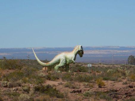 ...von diesem 14 m langen und 10 Tonnen schweren fleischfressenden Dinosaurier ausgebuddelt.