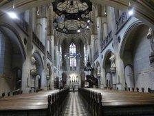 In der Schlosskirche, hier war Luther Prediger, ...