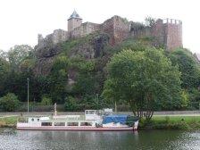 In Halle, auf der Burg Giebichenstein ...