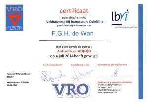 Certificaat Autisme en ADHD