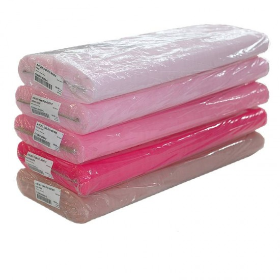 tissu tulle 5 couleurs rose 40 metre paquet