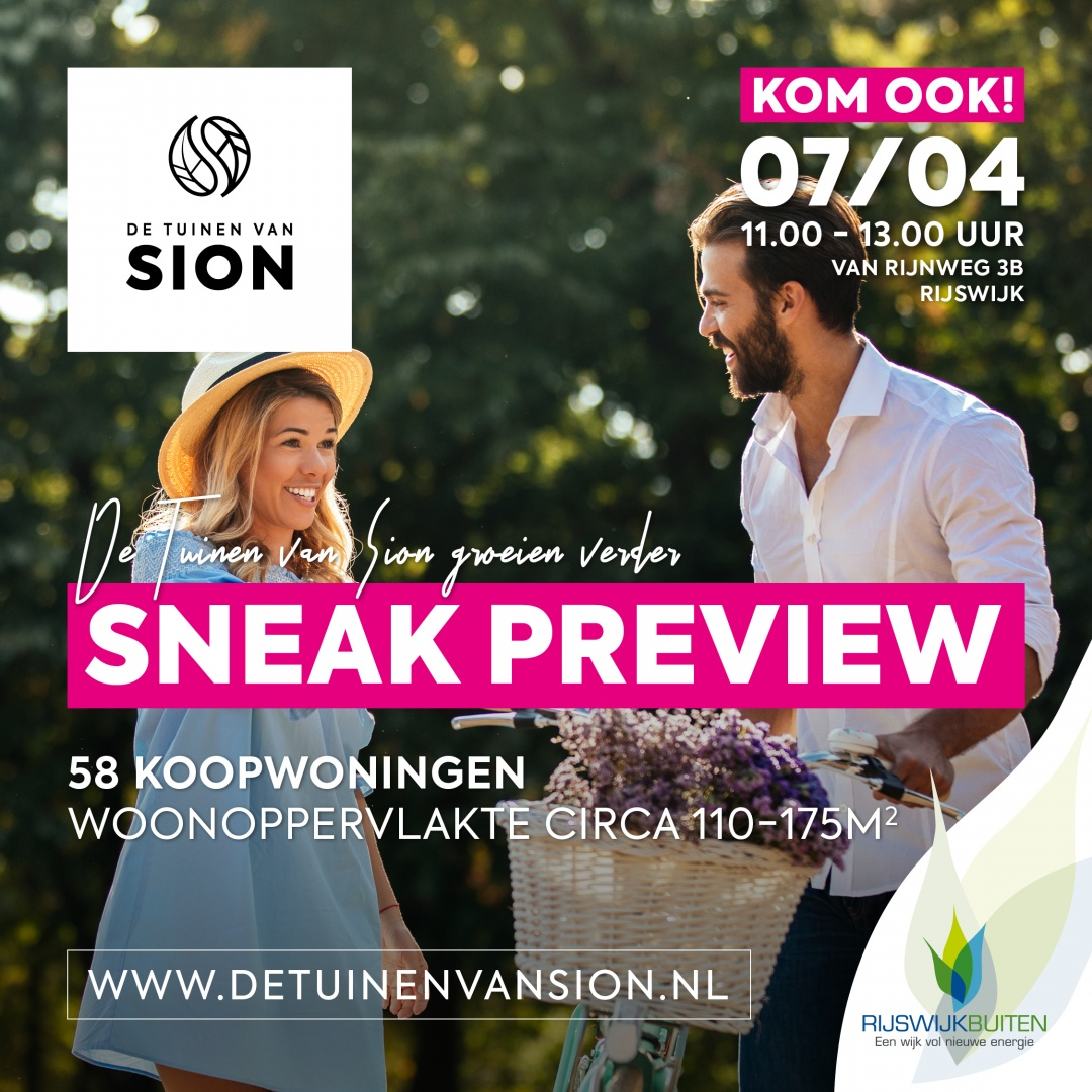 Sneak Preview de Tuinen van Sion fase 13
