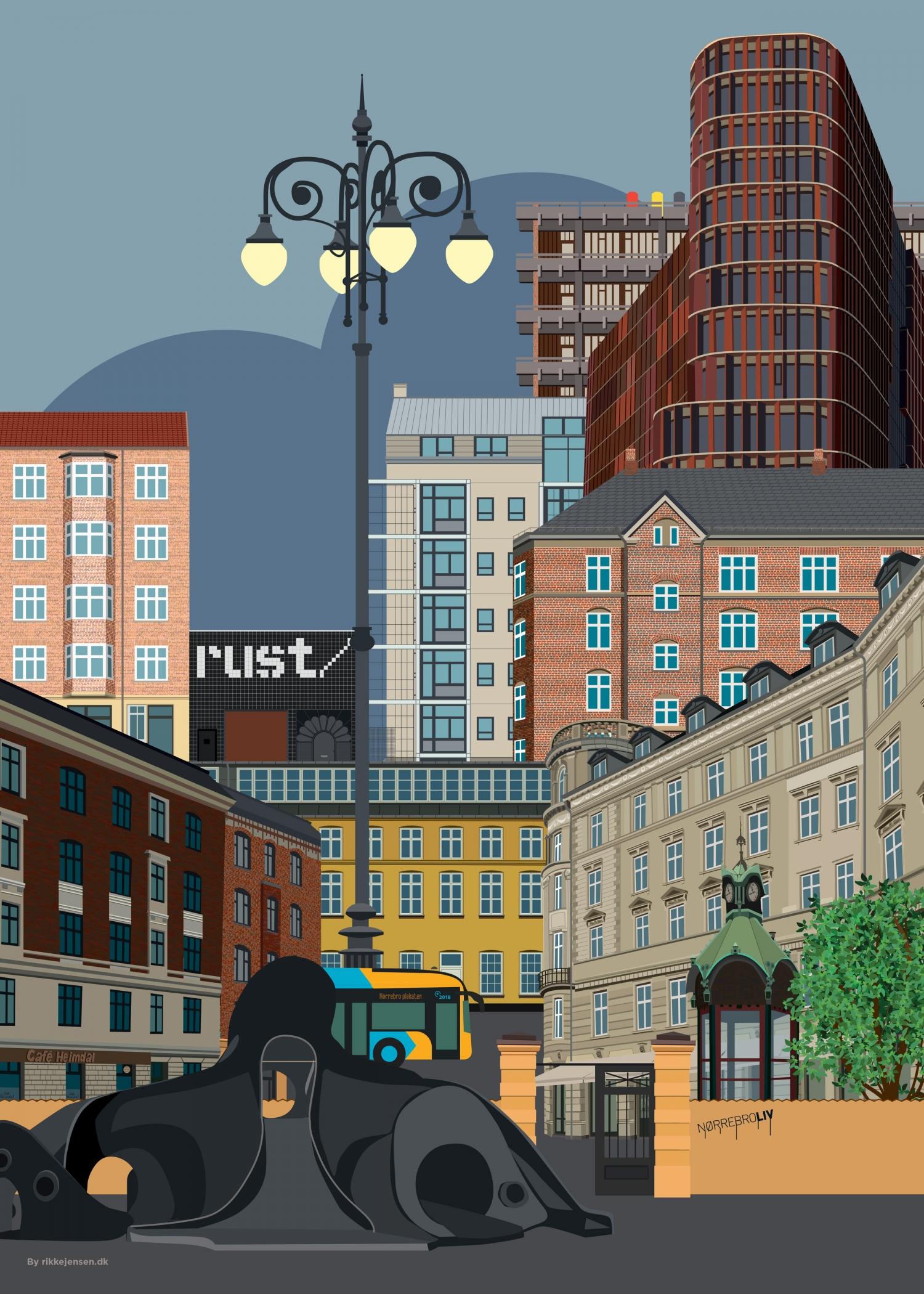Nørrebro collage 1 - Rust, blæksprutte, mærsk