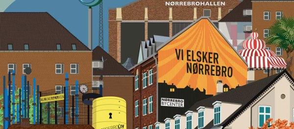 Nørrebro collage 2 - nordbro, gavl, Sjællandsgade Bad