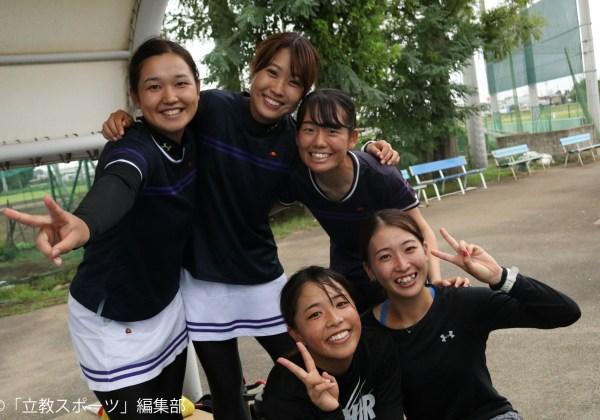 左上から淺野(社2)、木村(文1)、倉島(観4)、左下から宗和(社1)、中村(文1)