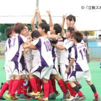 【ホッケー部男子】因縁の相手・東大にSO戦で競り勝つ! 勢いそのままに優勝へ突き進む!