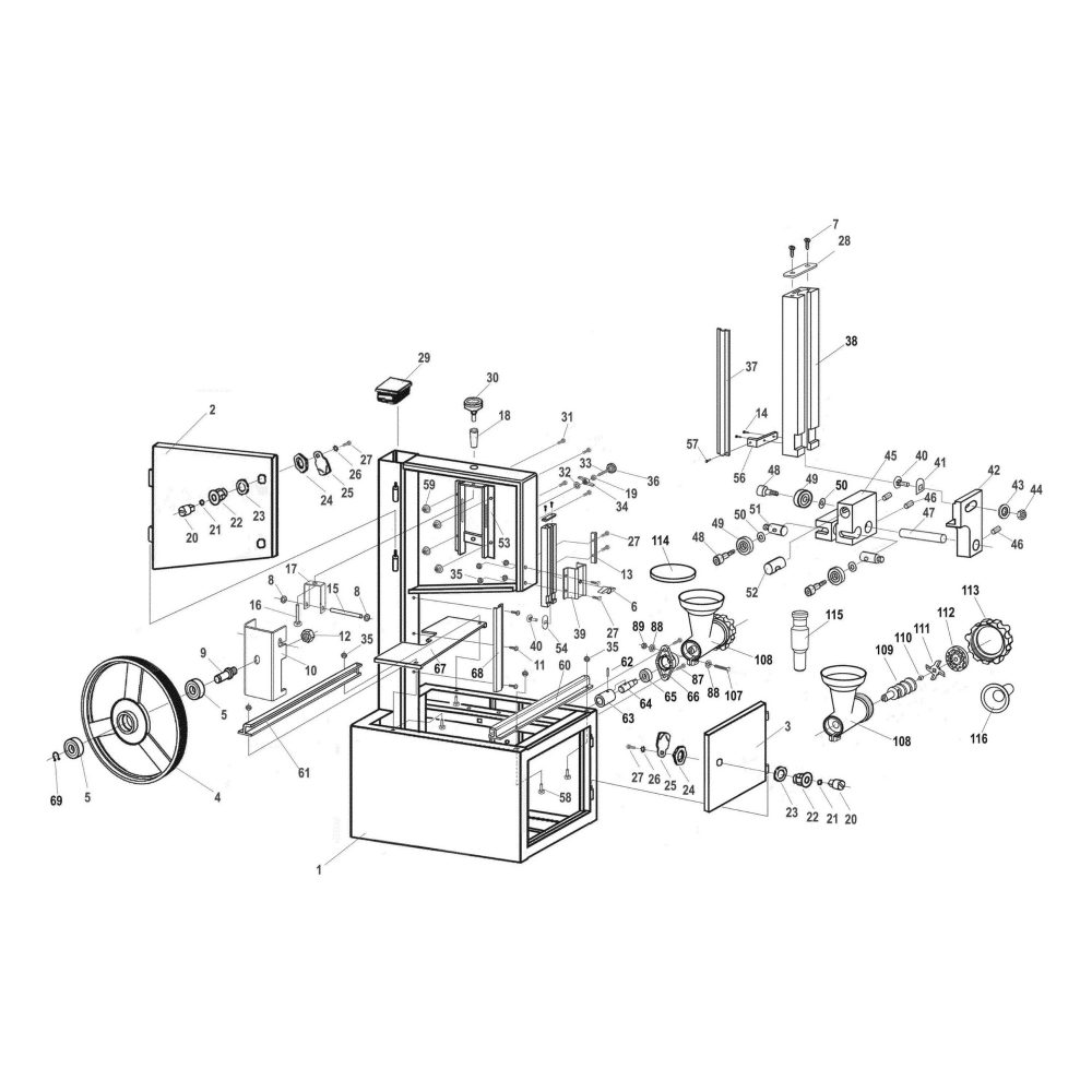 hight resolution of model 10 308 meat saw with sliding table available part diagram assemblies