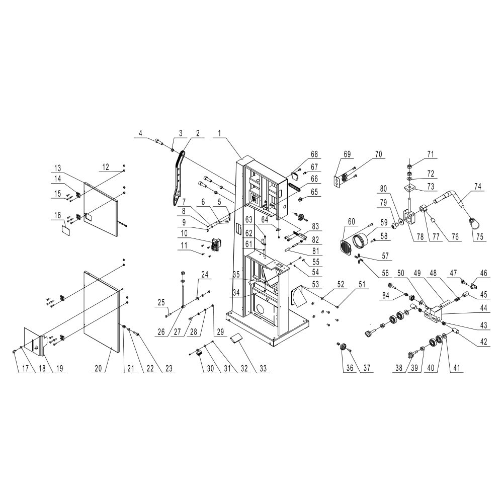 hight resolution of available part diagram assemblies frame assembly sheet a table assembly sheet b