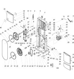 available part diagram assemblies frame assembly table trunnion assembly  [ 1000 x 1000 Pixel ]