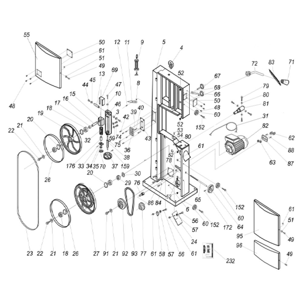 hight resolution of available part diagram assemblies frame assembly table trunnion assembly