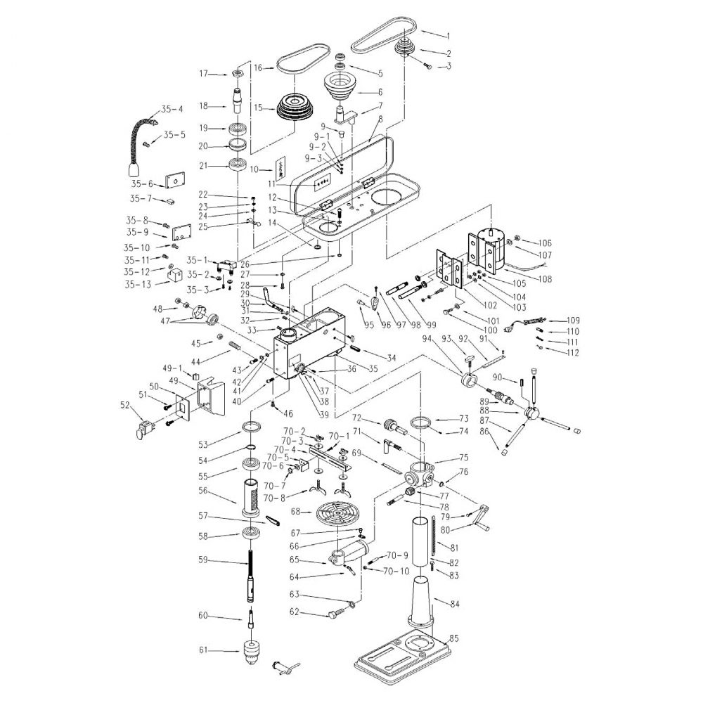 medium resolution of buy craftsman model 124 34984 replacement parts drill pres diagram and parts list for craftsman drillparts model