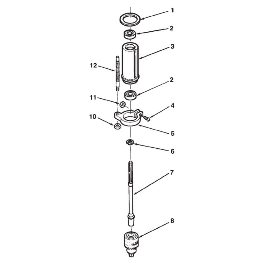 hight resolution of  chuck spindle assembly sheet c