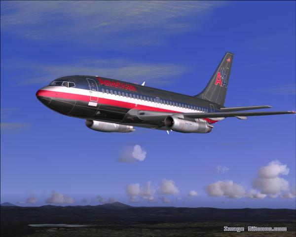 American Boeing 737 200 - Year of Clean Water