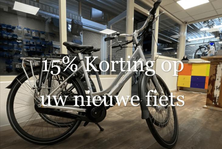 15% korting op uw nieuwe fiets
