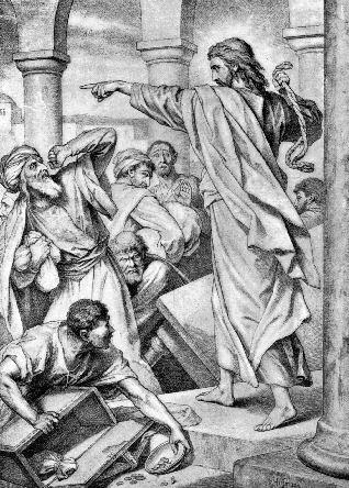 Kristus jager pengevekslerne