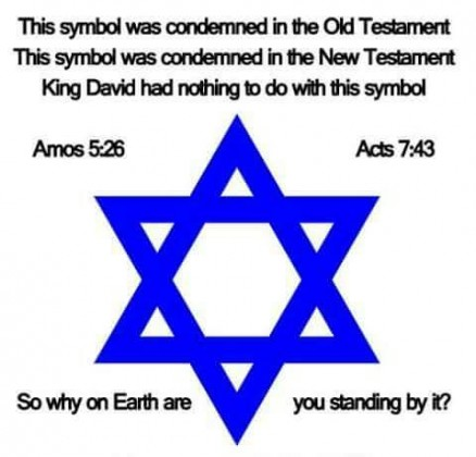 Denne har ingenting med Kong David å gjøre, bare med den senere okkulte Salomon å gjøre, Star of Rephan.