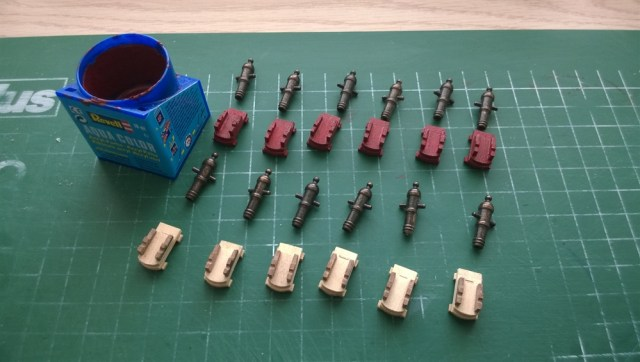 Hunter kanonnen in aanbouw