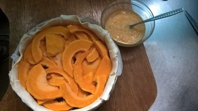 Hartige taart pompoen en courgette (6)