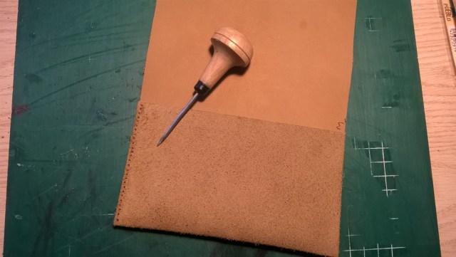 Leren buidel zelf maken (5)