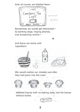 2007 Cranberry Tea Loaf Zine, p 4- written and illustrated by Lauren