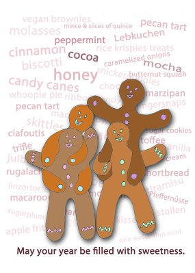 Gingerbread Kids 2011 -outside, illustration by KR