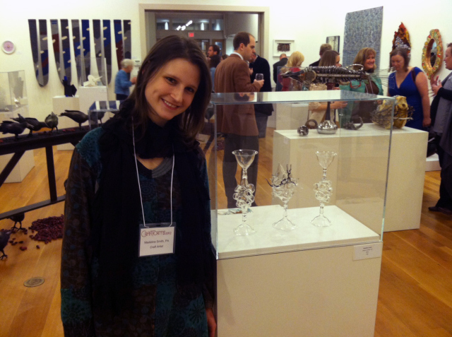 Madeline Rile Smith at the Wayne Arts Center Craft Forms Opening Reception