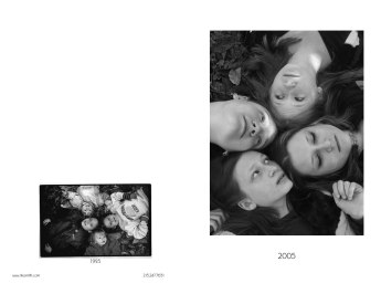 "2005 Anniversary Holiday Card - outside; digital xerox of silver gelatin print with 1995 print on back (Click ""view full size"" in lower right for clear copy)"