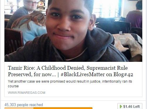 My #TamirRice Ad is about to end. Please help me renew it | #GoFundMe #Blog#42