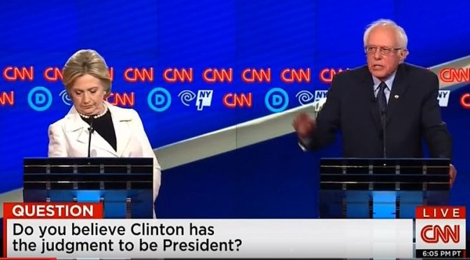 Fact-Checking And Highlighting #BernieSanders & #HillaryClinton | CNN #DemDebate on Blog#42