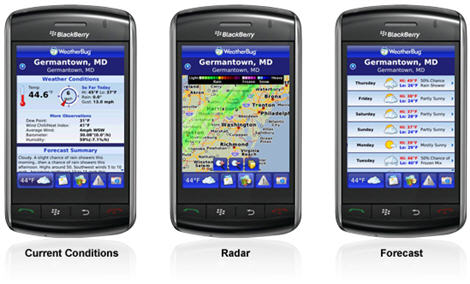 WeatherBug For BlackBerry Storm Now Available…  For Free