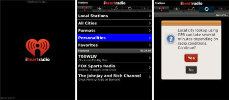 iHeartRadio Beta Now Availble For BlackBerry Storm