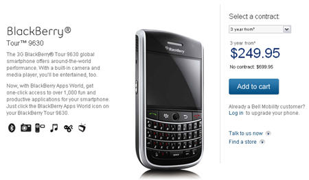 Bell BlackBerry Tour Now Available!