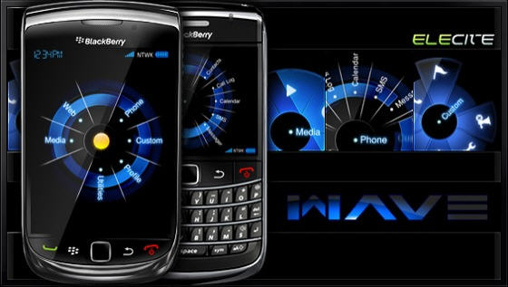 BlackBerry Theme:  Wave By Elecite.com