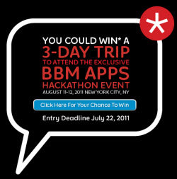 RIM hosting BBM Apps Hackathon Event August 11th and 12th in New York City