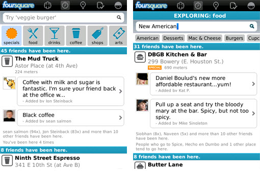 Foursquare for BlackBerry v3.0 out of Alpha – BBM integration removed…