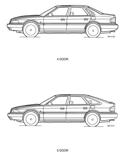 MG Rover 800 Late Vehicle Information