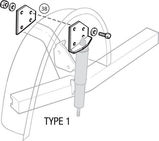 Triumph TR4A-250 Rear Telescopic Shock Absorber Brackets