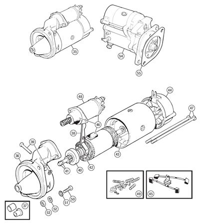 Triumph TR6 Starter Motor and Components from CP53637