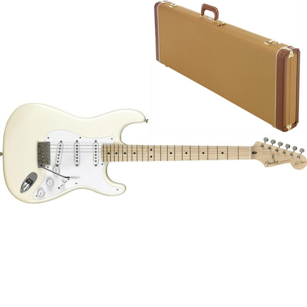 medium resolution of eric clapton stratocaster maple fingerboard olympic white includes case