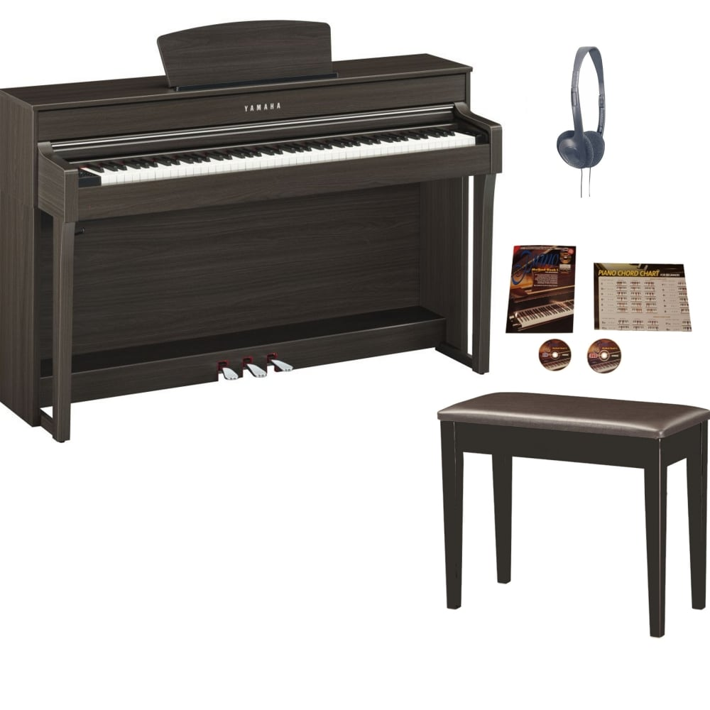 medium resolution of yamaha clp 635 clavinova digital piano dark walnut package