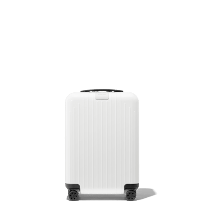 white suitcases hand luggage