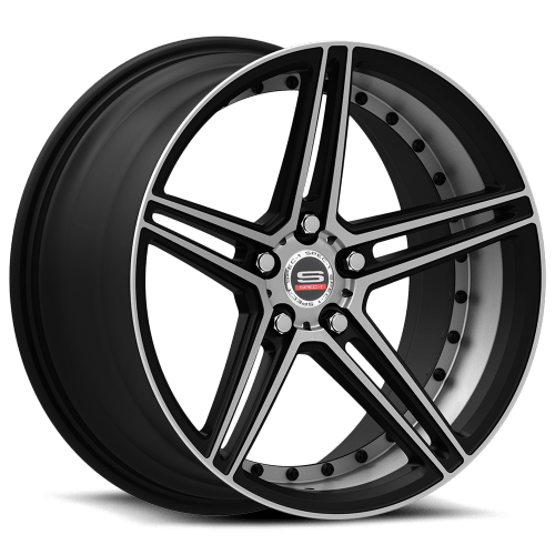 SPEC-1 SPM-77 19 X 9.5 Inch Rims (Gloss Black Machined)   SPEC-1 SPM-77 Rims