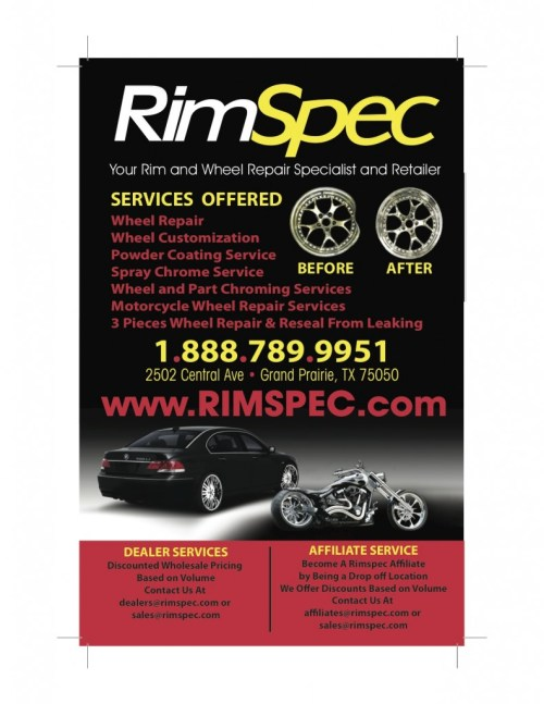 affiliate and dealer program Rimspec wheel repair incentive