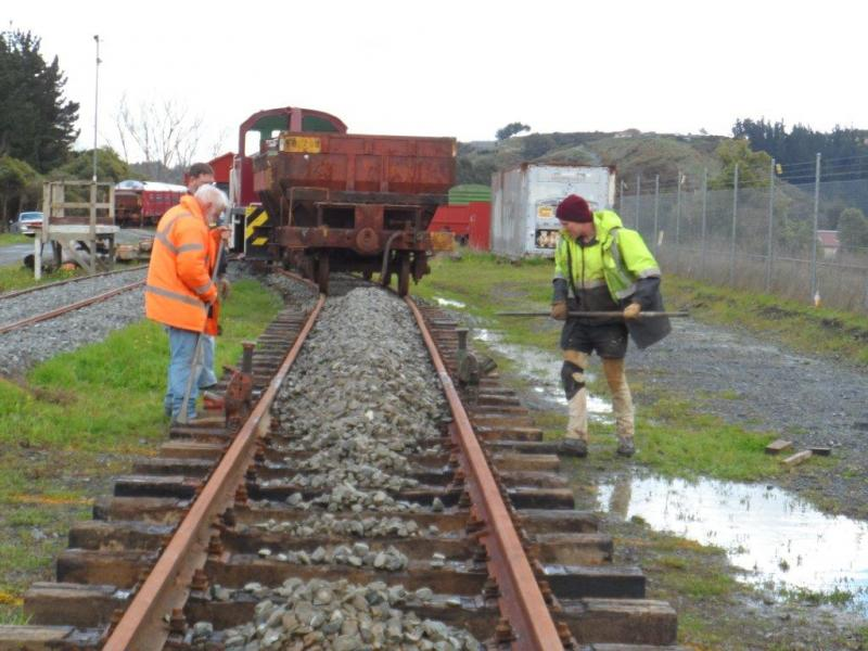 Loop track ballast drop | Rimutaka Incline Railway