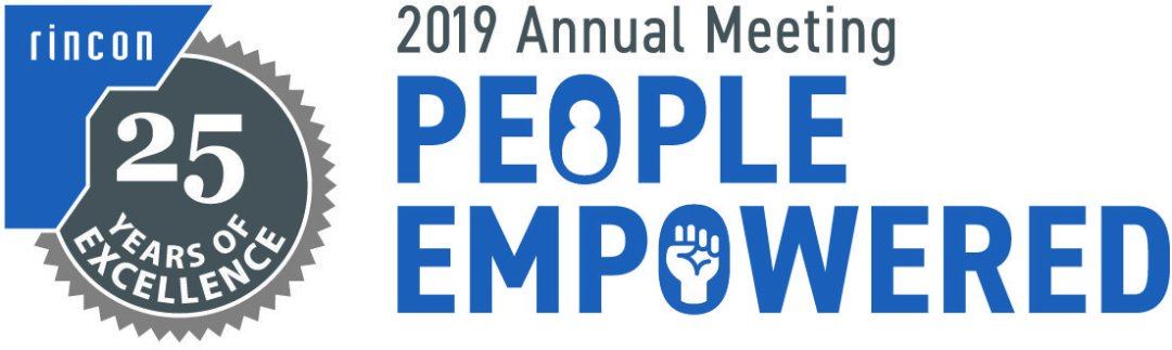 "2019 Rincon annual meeting logo including theme ""People Empowered"""